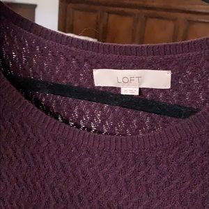 LOFT Dresses - Burgundy Sweater Dress
